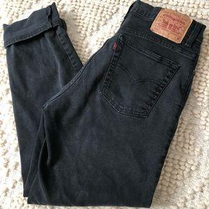 Vintage 550 black denim Levis